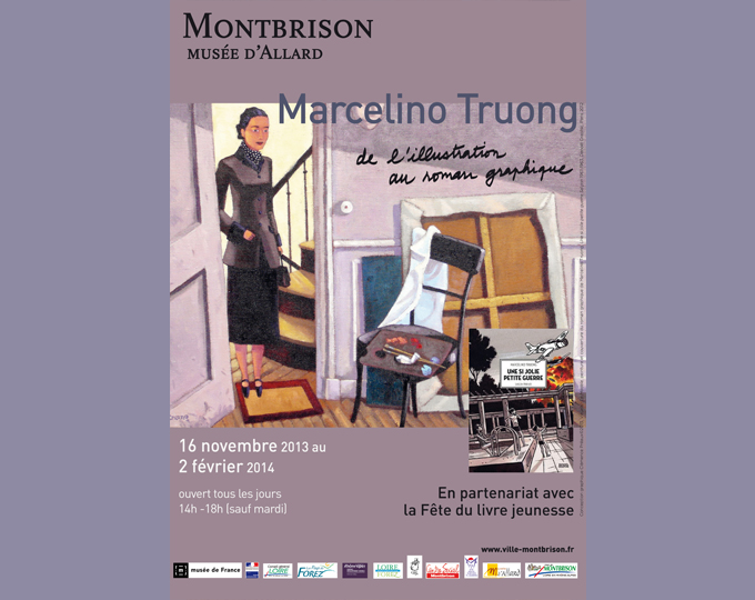 Exposition Marcelino Truong, de l'illustration au roman graphique