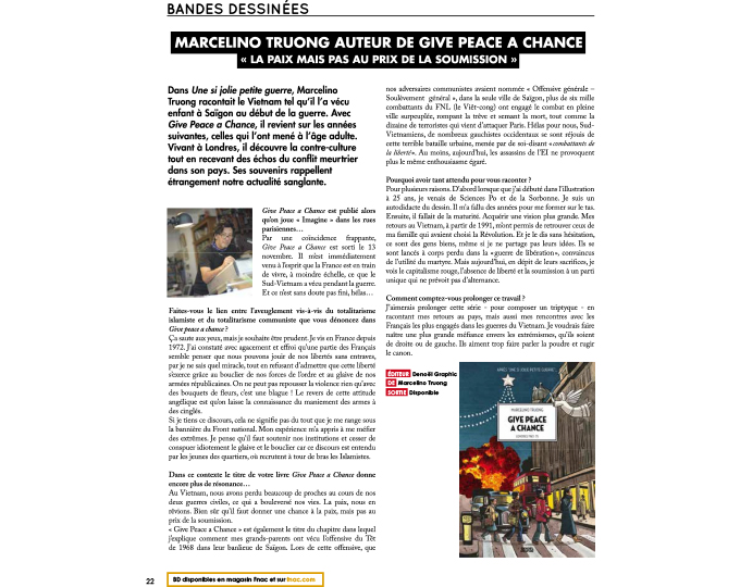 Interview Open Mag sur GPAC, magazine de la FNAC